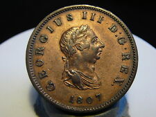 4CL(75) - ANGLETERRE - HALF PENNY - 1807 - QUALITE SUP/SUP+ !