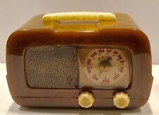 """GREEN Fada #711 """"Dip Top"""" Catalin Bakelite 1946 vintage vacuum tube radio- WORKS"""