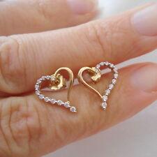 Certified SI Clarity G Grade Heart Diamond Stud Earrings