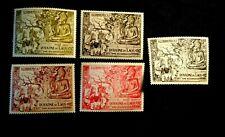 LAOS Stamp Set Scott 27-29, C20-C21 MNH CV72