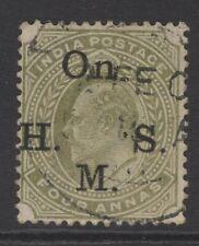 INDIA SGO61 1902 4a PALE OLIVE USED