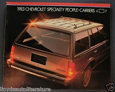 1983 Chevrolet Station Wagon Brochure Caprice Malibu Suburban Blazer Sportvan 83