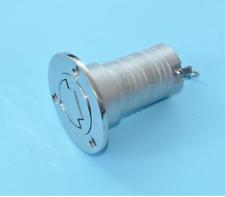 "Boat Deck Fill / Filler Keyless Cap -1 1/2"" Gas- Marine 316 Stainless Steel"