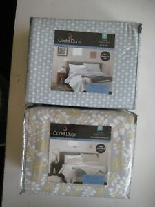 Cuddl Duds TWIN SHEET SET LIVE IN LAYERS HEAVYWEIGHT FLANNEL 100% COTTON $49.99