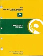 JOHN DEERE 270 ROTARY DISK MOWER OPERATORS MANUAL