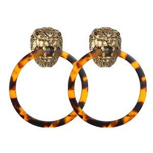 Gold Dangle Earrings Gold Earrings Lion Earrings Lion Earrings,2E. Dangle Earrings Lion