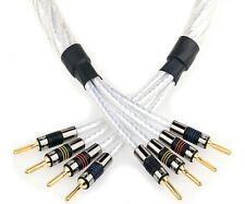 QED Genesis Silver Spiral Bi-Wire Speaker Cable Terminated 3.0m Pair