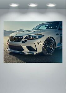 BMW M2 Racing Car Large Poster Art Print A0 A1 A2 A3 A4 Maxi