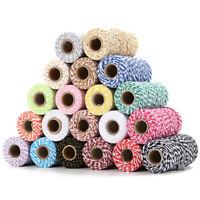 100m 2MM Cotton Twisted Cord Thread Macrame Rope Weaving String Decor Craft  DIY