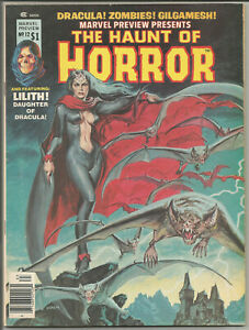 MARVEL PREVIEW PRESENTS HAUNT OF HORROR #12 FN Lilith daughter of Dracula 1977