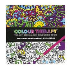 1 x Colour Therapy Adult Colouring Book Anti Stress Zen Garden Calm Art 120 Page