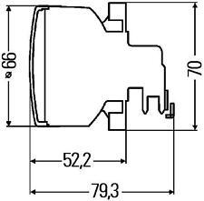 2ZR 009 001-011 Hella 60mm Rueckfahrleuchte Premium Modul Heckleuchten Rückfahrl