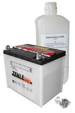 Motorradbatterie 12V 30Ah 300A/EN 53030 Rasentraktor Aufsitzmäher NEU Zehletec
