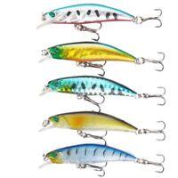 7cm 4g Hooks Hard Bait Minnow Fishing Lures Bass Tackle Deep Diving Crankbait