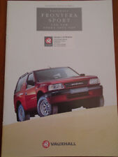 Vauxhall Frontera Sport and New Sport Soft Top brochure 1994 Ed 1