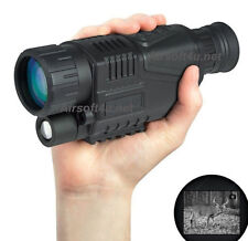 "5x40 Infrared IR Digital 1.44"" LCD Monocular Zoom Night Vision Scope Video Photo"