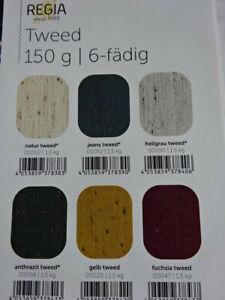 (€ 7,20/100g) 150g REGIA TWEED 6-fädig - Sockenwolle - 4 Farben Schachenmayr
