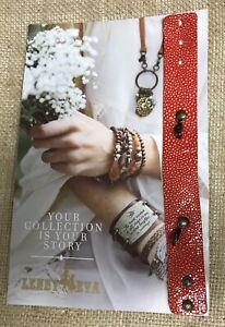NEW Lenny & Eva Jewelry Bracelet Leather Skinny Cuff For Sentiment Red Orange