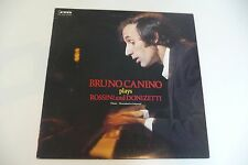 BRUNO CANINO PLAYS ROSSINI AND DONIZETTI LP CAMERATA JAPAN PRESS.