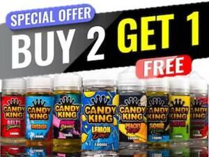 Candy CNDY King 100 Buy 2 Get 1 Free E Liquid Vape Juice Full Range ml