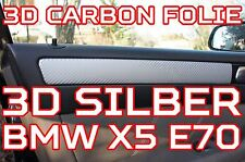 BMW X5 E70 ORIGINAL 3D CARBON FOLIEN ZIERLEISTEN SET 3D CARBON SILBER