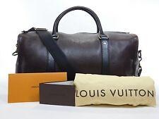 Authentic Louis Vuitton Utah Leather Commanche 55 Duffle Bag Suitcase Travel 675
