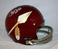 Sonny Jurgensen HOF Signed *White F/S Washington Redskins 65-69 TK Helmet JSA W