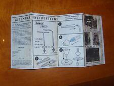 1960's Corgi Kits 606 Lamp Standards instructions sheet only COPY