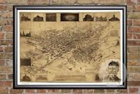 Vintage Denver, CO Map 1881 - Historic Colorado Art - Old Victorian Industrial