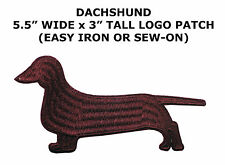 Dachshund Portrait Dog Breed Embroidery Iron or Sew-on Applique Patch
