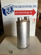 """4""""IN/5"""" OUT MUFFLER Oval Style 4"""" Inlet 5"""" Outlet Same Side M120713 Donaldson"""