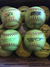 13 Assorted Slowpitch Softballs 1