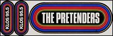 The Pretenders 80's KLOS LA Radio Promo Rainbow Concert Bumper Stickers