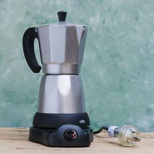 Cilio Classico Electric Moka Coffee Maker Silver, 6 Cup
