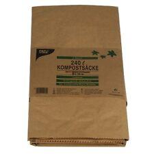 20 braune Kompostsäcke 2-lagiges Kraftpapier 240 l 115 cm x 80 cm Kompostbeutel