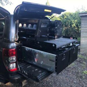 Ford Ranger hard top and sliding drawer assembly