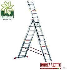Scala TRASFORMABILE a sfilo alluminio MARCHETTI 3 elementi 11+11+11 piolo 28 mm