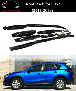 Fits for Mazda CX-5 CX5 2012-2016 Roof Rack Rail Luggage Carrier Crossbars Black