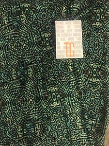 Lularoe TC Tall & Curvy Leggings Black Green Yellow Oranate Camouflage Puzzle 🦄