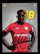 Moussa Diaby Autogrammkarte Bayer Leverkusen 2019-20 Original Signiert
