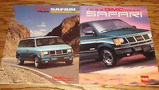 1991 1992 GMC Truck Safari Van Sales Brochure Lot of 2 91 92
