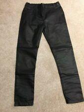 Girl Black Leather Look Jeggings