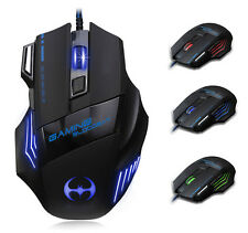 8D 3200DPI T80 Blood Bat Optical 7 Buttons Usb Wired Gaming Mouse LOL WOW CF FPS