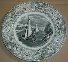 Adams China Winter Scenes ICE BOAT RACE ON THE HUDSON 10 1/2 Inch Plate