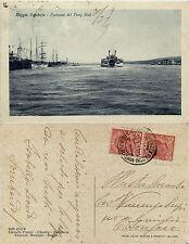 Reggio Calabria,Partenza del ferry boat, viaggiata 1929