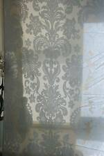 "Acanthus Antique Jacobean design paleblue madras lace CURTAINING 80"" long 2.m"