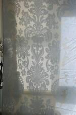 """D'acanthe antique jacobéen Design paleblue madras dentelle coulure 80"""" long 2.m"""