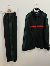 Adidas Originals Adi-Icon Tracksuit Black Green, Jacket Size 2XL Pants Size XL