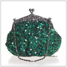 Pearl Clutch Bag Beaded Prom Party Bridal Handbag Wedding Evening Purse E03162#