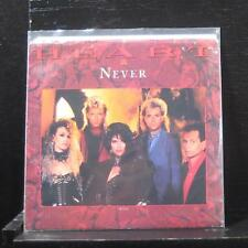 "Heart - Never 7"" Mint- P-B-5512 White Label Promo Capitol 1985 USA Vinyl 45"